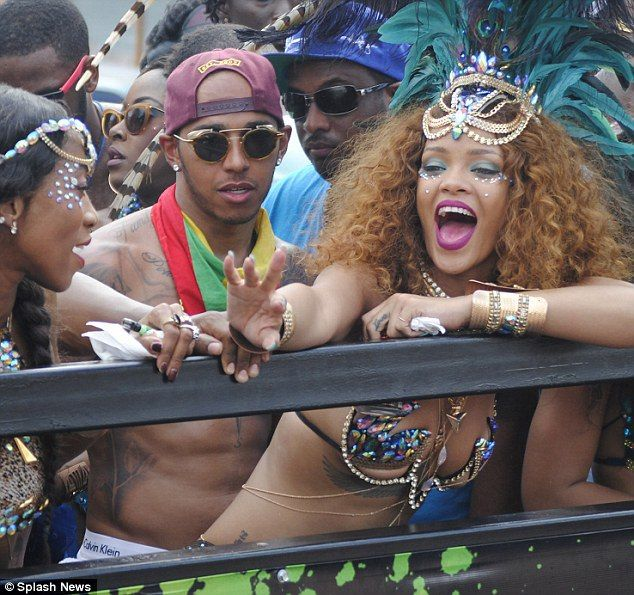 Rihanna and Lewis Hamilton spark dating rumours as they cosy up at Barbados festival in Barbados - http://www.nollywoodfreaks.com/rihanna-and-lewis-hamilton-spark-dating-rumours-as-they-cosy-up-at-barbados-festival-in-barbados/
