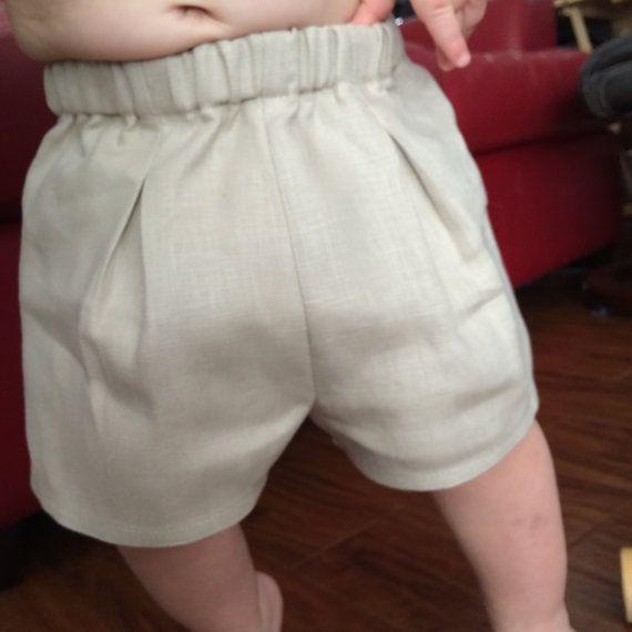 Pantaloncini bambino biancheria Toddler lino di BabySuzannaJohanna