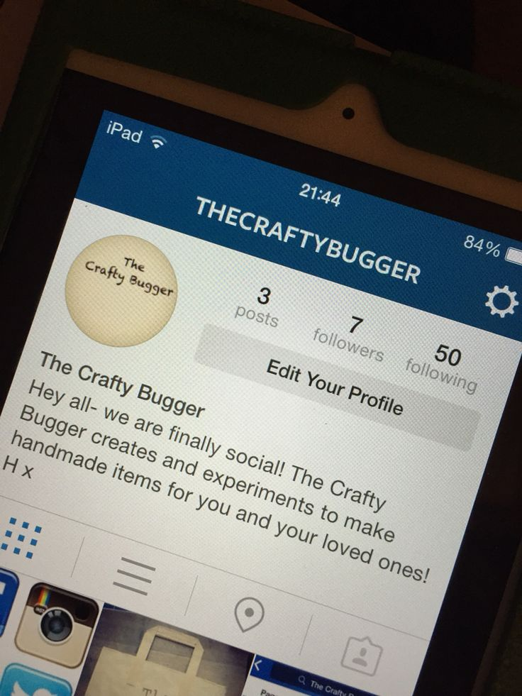 The crafty bugger is social and is on 4 of the major social media platforms x