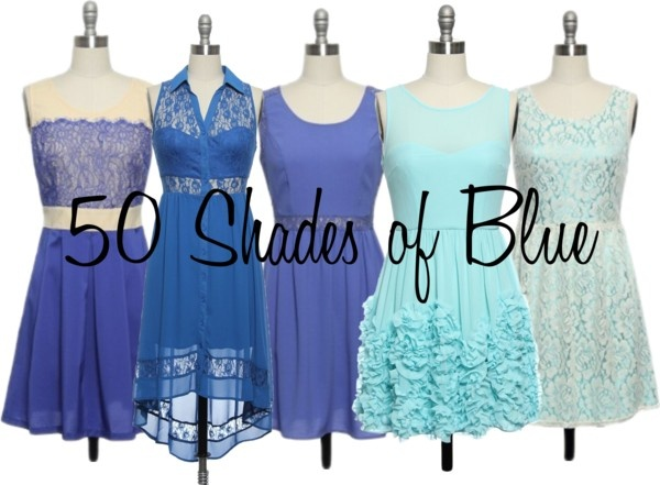 """50 Shades of Blue"" by laceaffair on Polyvore"
