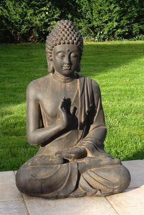 Superbe Statue De Bouddha Zen Jardin 73 Cm pas cher - PriceMinister