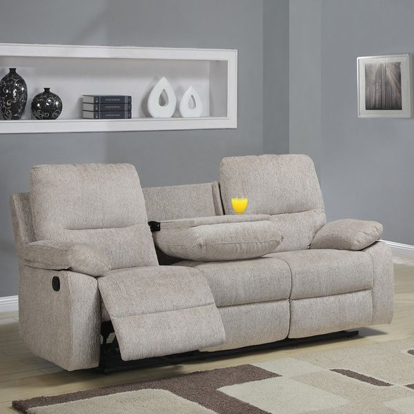 Tribecca Home Corbridge Light Beige Chenille Double Recliner Sofa -  Overstock Shopping - Great Deals