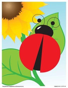 Ladybug Math Mat Freebie