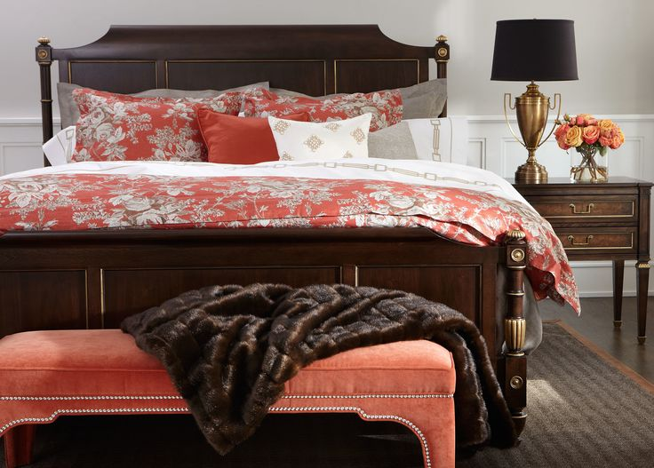 Check out our gorgeous new Georgetown Bed and nightstand! Available to order at the Ethan Allen in Orland Park, IL