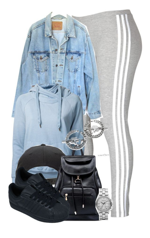 """""""Chillin' like a villain."""" by cheerstostyle ❤ liked on Polyvore featuring adidas, Levi's, NSF, RIFLE and Marc by Marc Jacobs"""