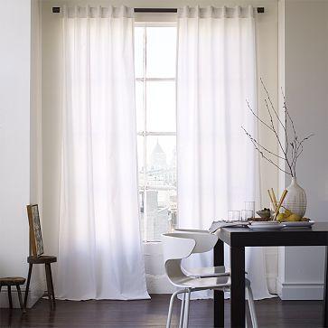 Cotton Canvas Window Panel – White #WestElm