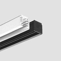 binario 3-230 V | Viabizzuno | carril trifásico de 5 conductores con tres circuitos y con encendido separado. provisto de agujeros para la fijación, está formado por un perfil de aluminio extrudido, que funciona también como conductor de tierra, y por una pieza interior de plástico que aloja cuatro conductores de cobre de 3mm. es posible cortar el carril de acuerdo con la longitud deseada, sin tener que doblar o cortar necesariamente el conductor de cobre. bajo pedido, están disponibles los…
