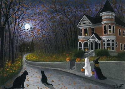 Halloween night - inspiration for D56 scene