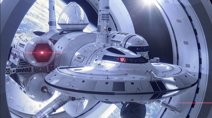 The IXS Enterprise is NASA's blend of real 'warp drive' technology and Star-Trek science-fiction
