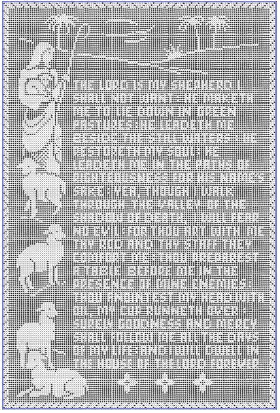 The 23rd Psalm Thread Filet Crochet Panel Pattern by FineArtThread