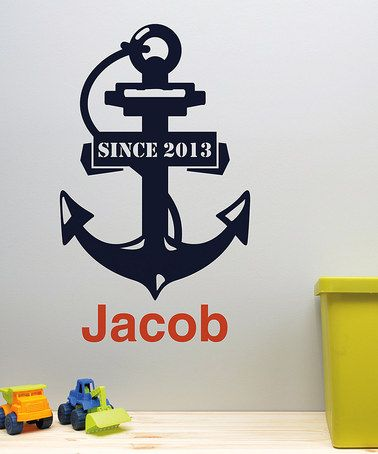 Love this Anchor Personalized Wall Decal on #zulily! #zulilyfinds