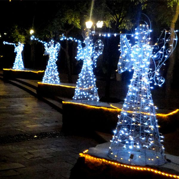 Lighted Outdoor Christmas Angels Outdoor Lighted Christmas