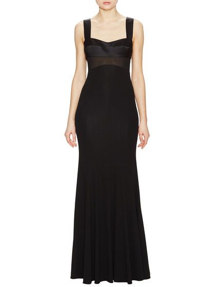 Crepe Jersey Silk Detail Gown By Narciso Rodriguez At Gilt