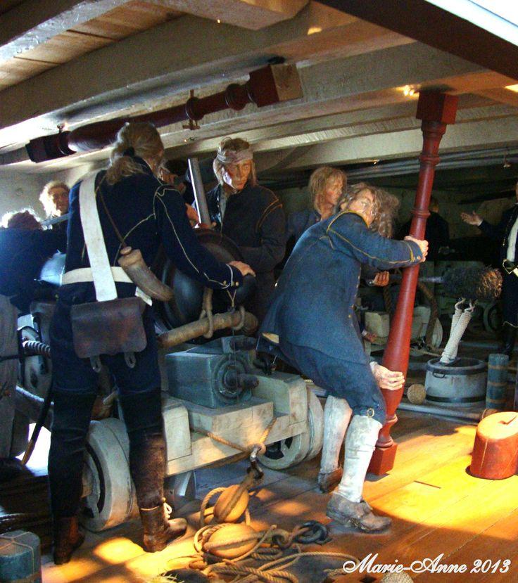 Karlskrona Marinmuseum  Scen från sjökrig