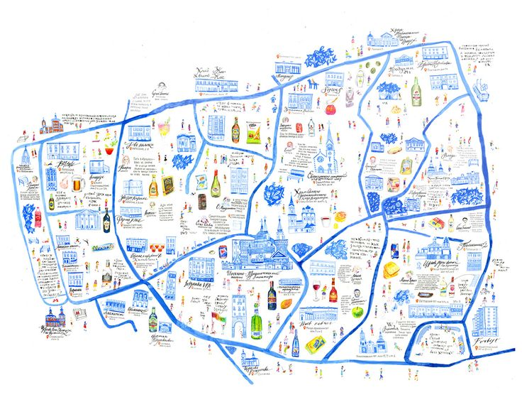 """this map was made for the project """"blue moscow"""". it is alcohol map with aguide and a souvenier raincoat."""