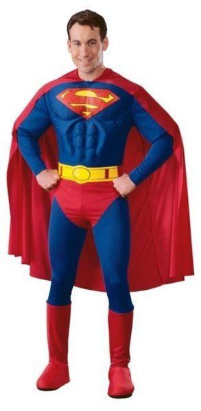 Naamiaisasu; Superman Deluxe asu  Lisensoitu Superman Deluxe asu. Silmälasit nurkkaan, trikoot niskaan ja Clark Kent pelastaa maailman jälleen. #naamiaismaailma