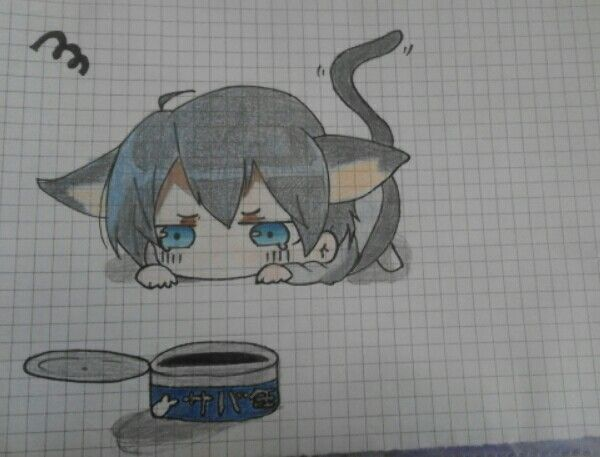Drawing of Elisa.D -Haru neko - Free!