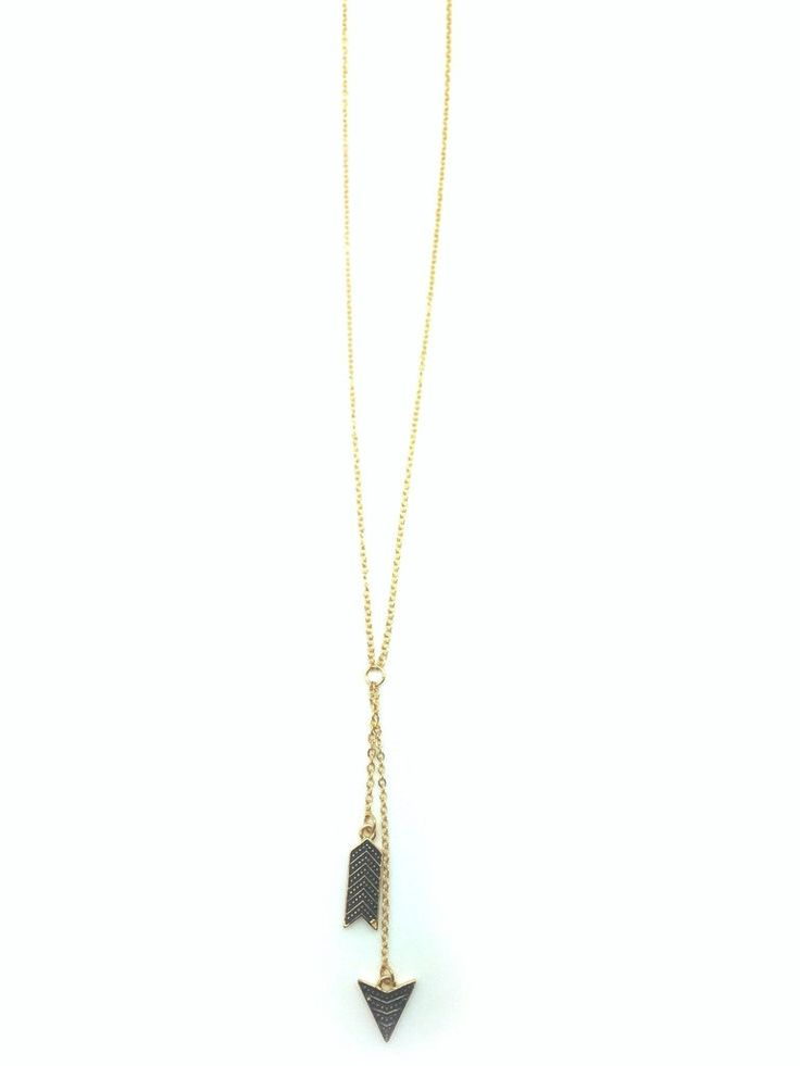 Arrow Drop Necklace - The arrow points down but your style goes way up.
