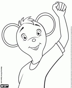 Marco the dancer from Angelina Ballerina coloring page