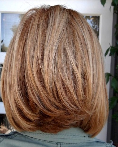 Shoulder Length Layered Bob   Excellent Bob Hairstyles for Women with Medium Length Hair Pictures