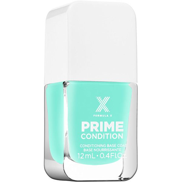 Formula X PRIME CONDITION - Nail Conditioning Base Coat (£11) ❤ liked on Polyvore featuring beauty products, nail care, nail polish and formula x nail polish