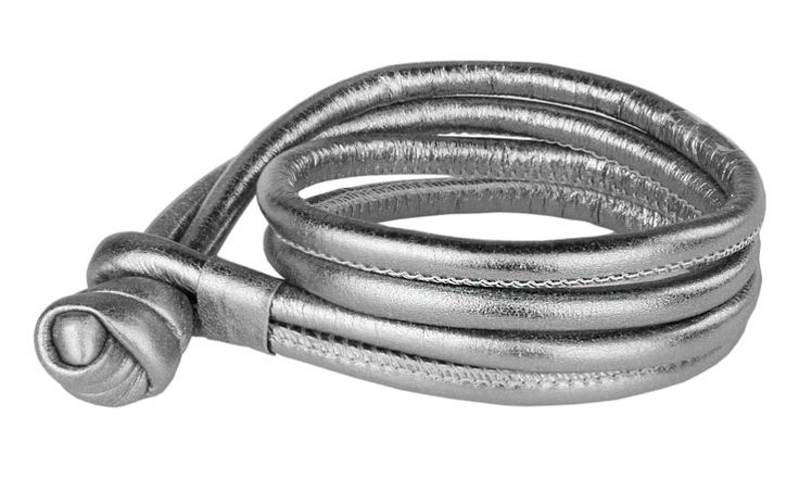 Joy de la Luz | Leather bracelet silver