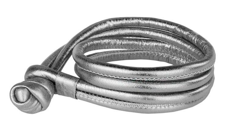 Joy de la Luz | Leather bracelet silver