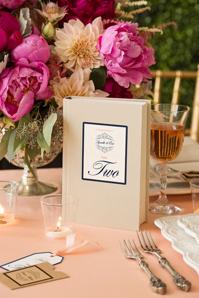 Book Table Number   ~  we ❤ this! moncheribridals.com #weddingtablenumbers