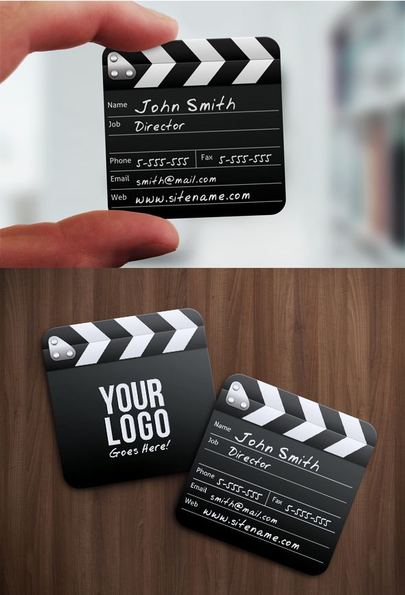 Cute film maker business card