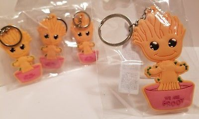4pcs BABY GROOT Keychain Guardians of the Galaxy Pendant Party Supplies GIFT