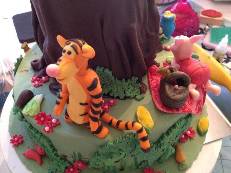 Winnie the poo cake Peter plys's kage fondant