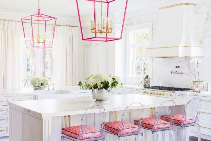 مطبخ وردي White Modern Kitchen Kitchen Inspirations Pink Kitchen