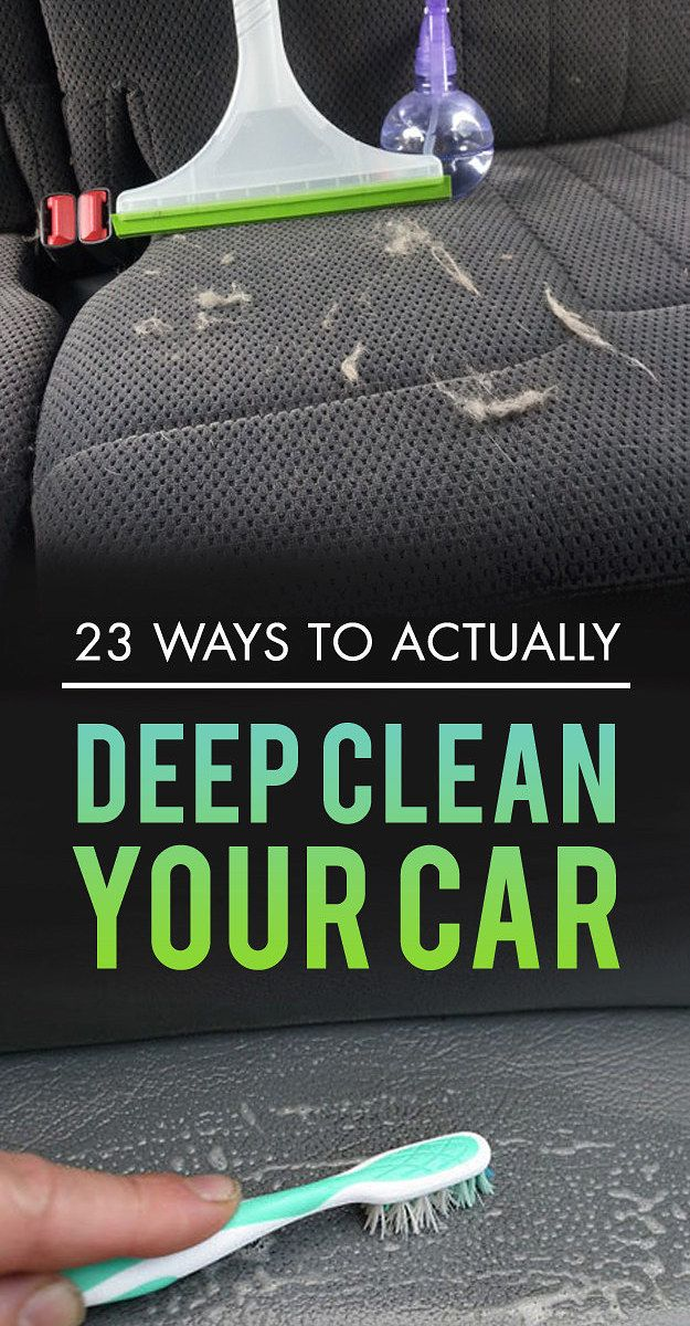 23 Ways To Actually Deep Clean Your Car || @J.A. Montenegro y @MaryGaby Taylor ya saben :P