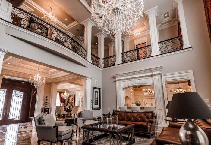 Magnificent Qu 233 Bec Castle 3 295 000 Mansion Family Room