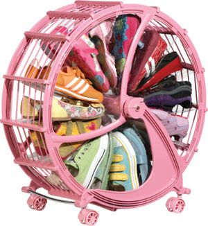 this rakku shoe wheel is pretty cool for any kids room so much cooler than a shoe rack