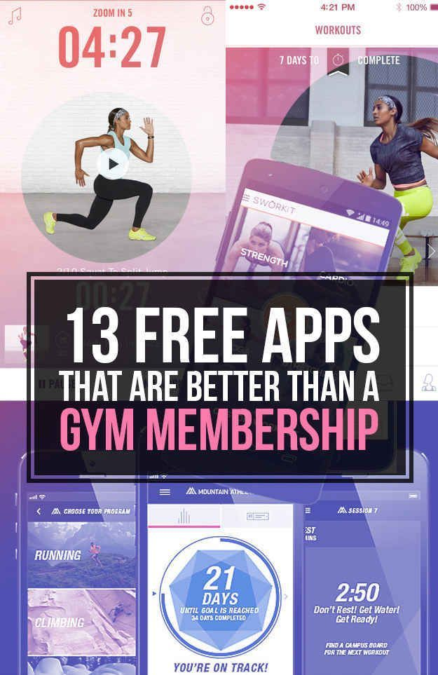 13 Free Apps That Are Better Than A Gym Membership get fit for free, getting in shape