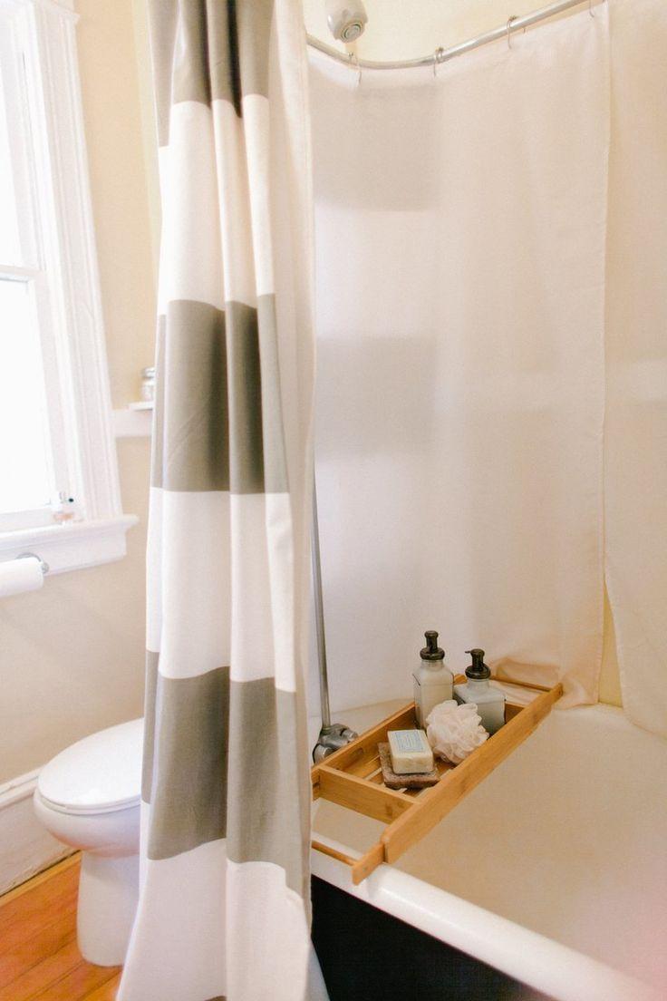 Yellow stripe shower curtain - Stripe Shower Curtain From West Elm