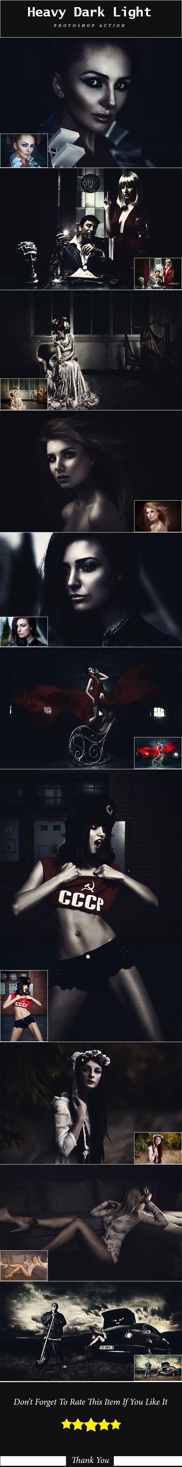 Heavy Dark Light Photoshop Action. Download here: https://graphicriver.net/item/heavy-dark-light-ps-action/17307277?ref=ksioks