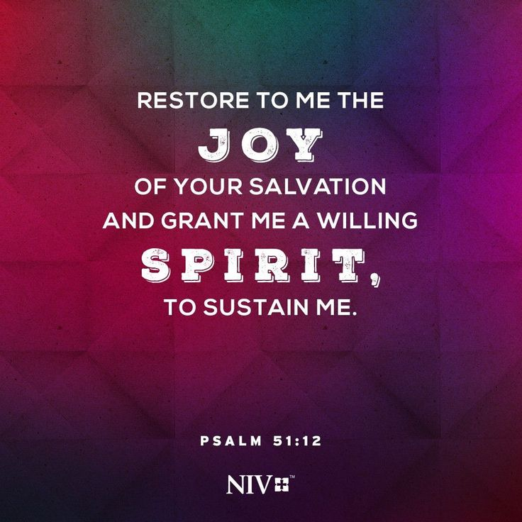 NIV Verse of the Day: Psalm 51:12