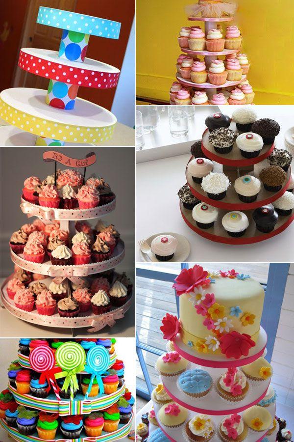 Inspire sua festa » Torre para cupcakes – Passo a passo
