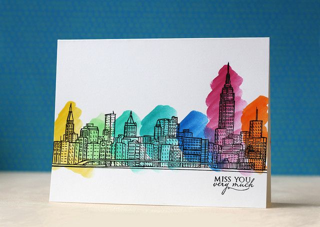 Sketchy Cities America – Altenew- love this stamp