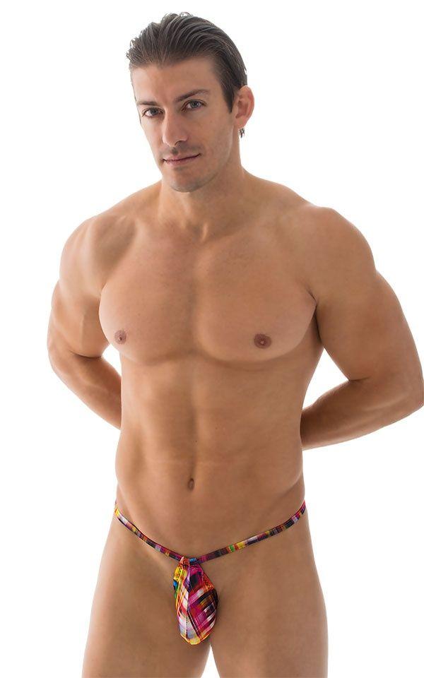 Cargo shorts style mens strin bikini - Nude gallery