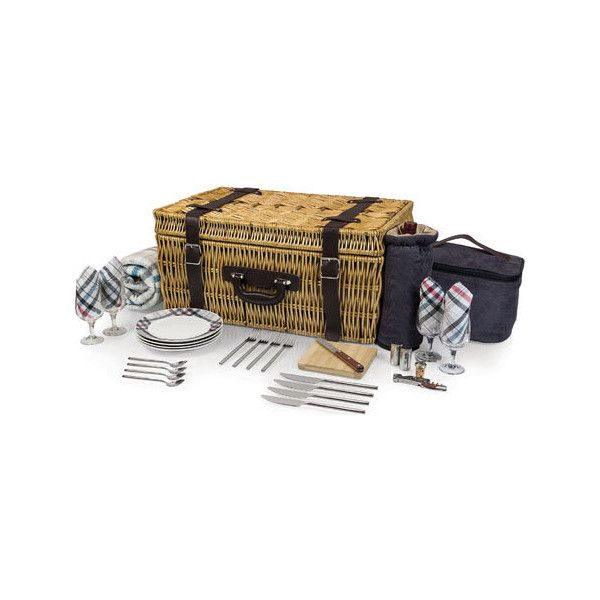 Picnic Time Carnaby St. Picnic Basket - Carnaby Street ($300) ❤ liked on Polyvore featuring home, kitchen & dining, food storage containers, none, picnic time picnic basket, picnic basket, white baskets and drink cooler