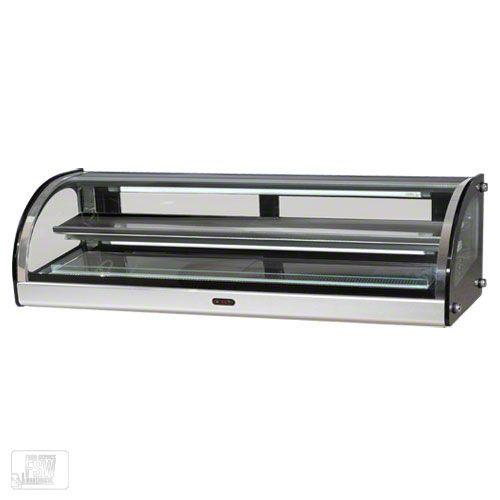 "BakeMax (BMCHD05) - 49"" Countertop Curved Glass Heated Showcase | FoodServiceWarehouse.com"