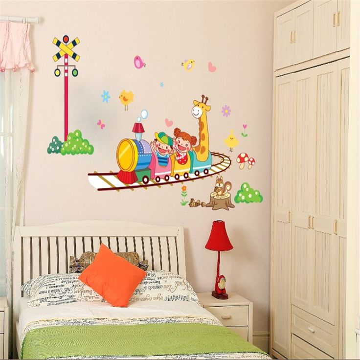 Holiday Promotion Cheap The Crazy Roller Coaster Dolphin Wall Catoon Kids Room Wall Sticker DIY Bath Room Wall Decal AY764