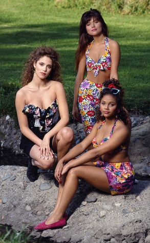 Saved by the Bell, television, 1990s, 90s, Elizabeth Berkley, Tiffani-Amber Thiessen, Lark Voorhies