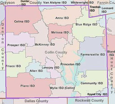 Collin County School Districts Map Google Search