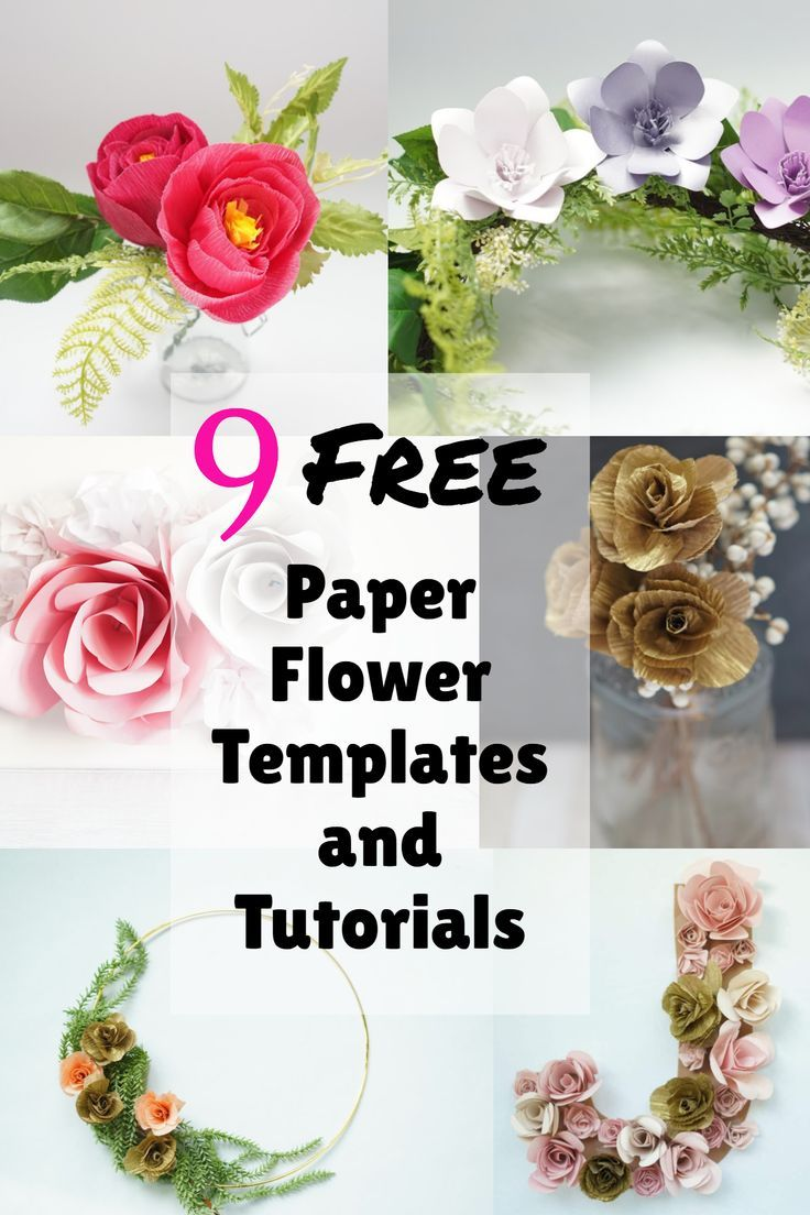 9 Easy Paper Flowers Templates Free Paper Flower Templates Easy