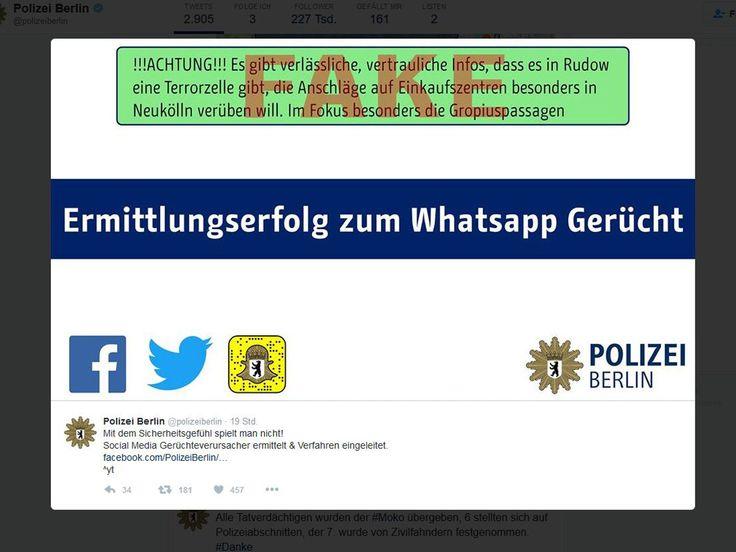 Berliner Polizei verhaftet Verfasser von Fake-News - silicon.de