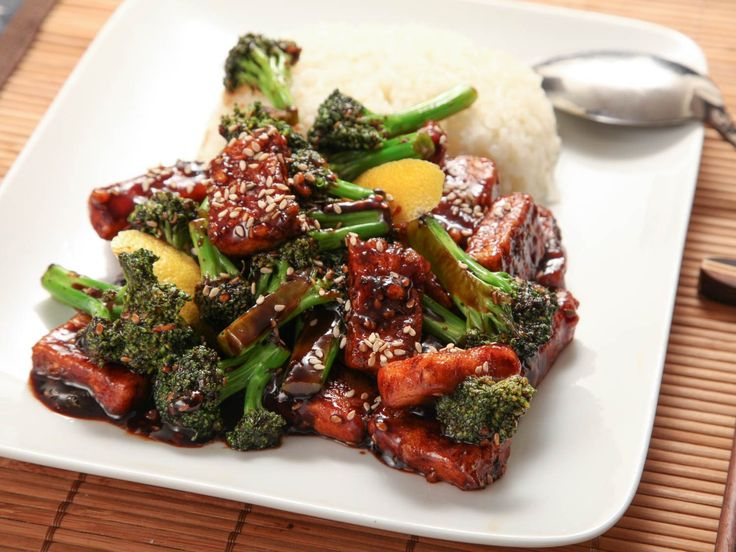 A quick and easy stir-fry with crisp tofu and broccoli tossed in a sweet and savory sauce with garlic, ginger, and sesame seeds.
